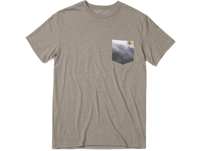 tentree Renfrew T-shirt avec poche Homme, vetiver green
